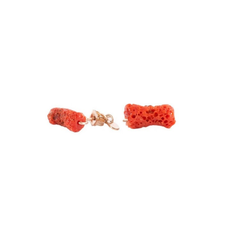 Pendientes oro y coral Fly Rouge Tarbay